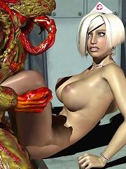 Perfect Secretary with hard tits poses