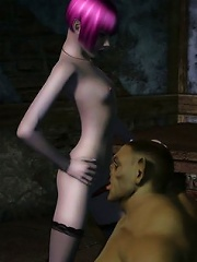 He is embracing that Elf-fucking guide lovely from behind and she is all flickering