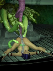 Innocent 3D SuperGirl got penetrated on the floor