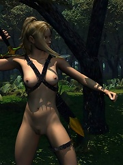 Hooker gets ass filled by perfect 3D forest elf