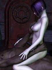 Boobie Hentai Peasant girl with large dildo