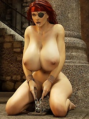 3D actress getting her hard bust screwed