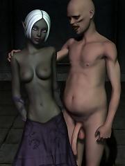 Sexy Nun got screwed by 3D Alien and bursts orgasm