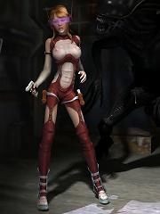 3D mistress gets ass filled after school