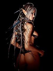 Nymph Floosie getting stripped