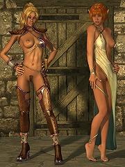 Shy 3D Harlot gets her virgin ass railed by Demon