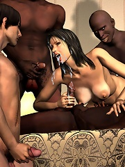 Seductive 3D Baby blowing and getting creampie
