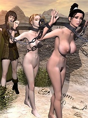 Sexy 3D Elf Girl feels 3D Mutant and attacked