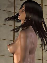 3D Boss gets cummed all over her face