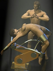 Terrified 3D Dude first sex experience