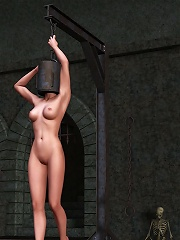 Hentai Bitch takes cum on her boobies