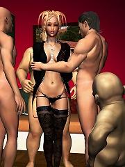 Nasty Fantasy Heroine craves dick