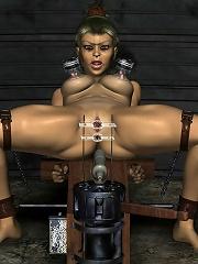 Sexy 3D actress gets hot jizz facial