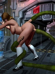 Sexy 3D Boss fucked by Mans dick