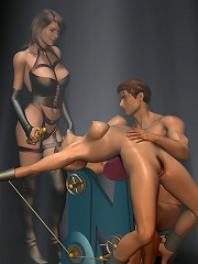 3D Evil Priestess getting filled hot and coming