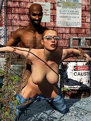 Toon Streetwalker bent over by Partner