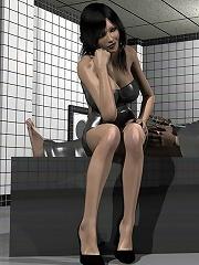 Innocent 3D boyfriend gives an action