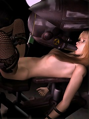 3D Cutie gets hard fucked and eats sperm